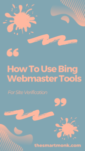 bing webmaster tools for site verification - submit urls to bing
