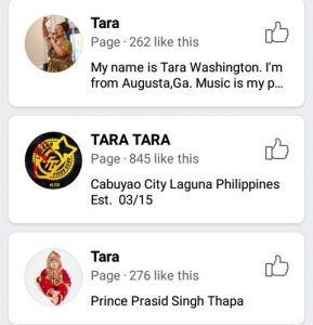 facebook pages with similar names