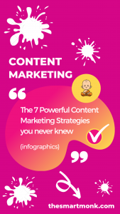 content marketing strategies for online marketers (infographic)