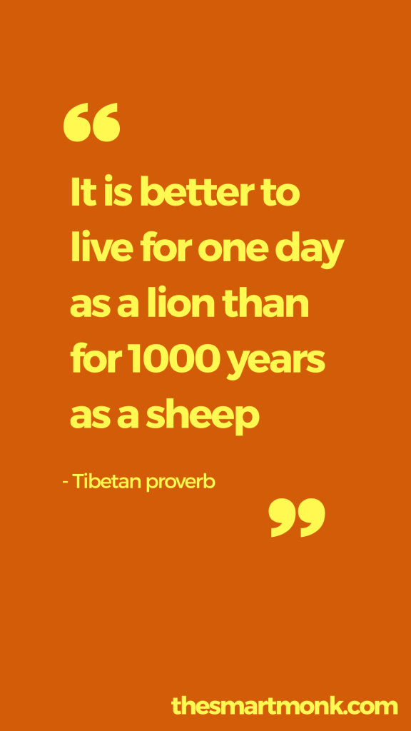 success quotes about business - tibetan proverb