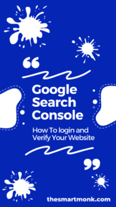 google search console login and verification