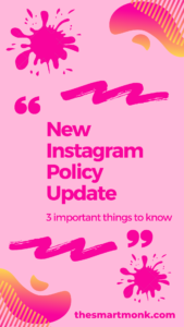 new instagram policy