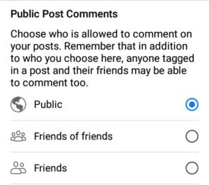 how to disable comments on facebook posts - public post comments