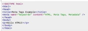 what is a meta tag - sample 1