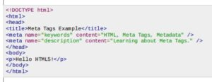 what is a meta tag - sample 2