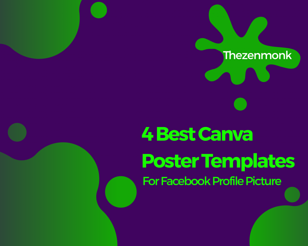 canva poster templates for facebook profile picture